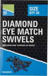 DIAMOND EYE MATCH SWIVELS - SIZE 10